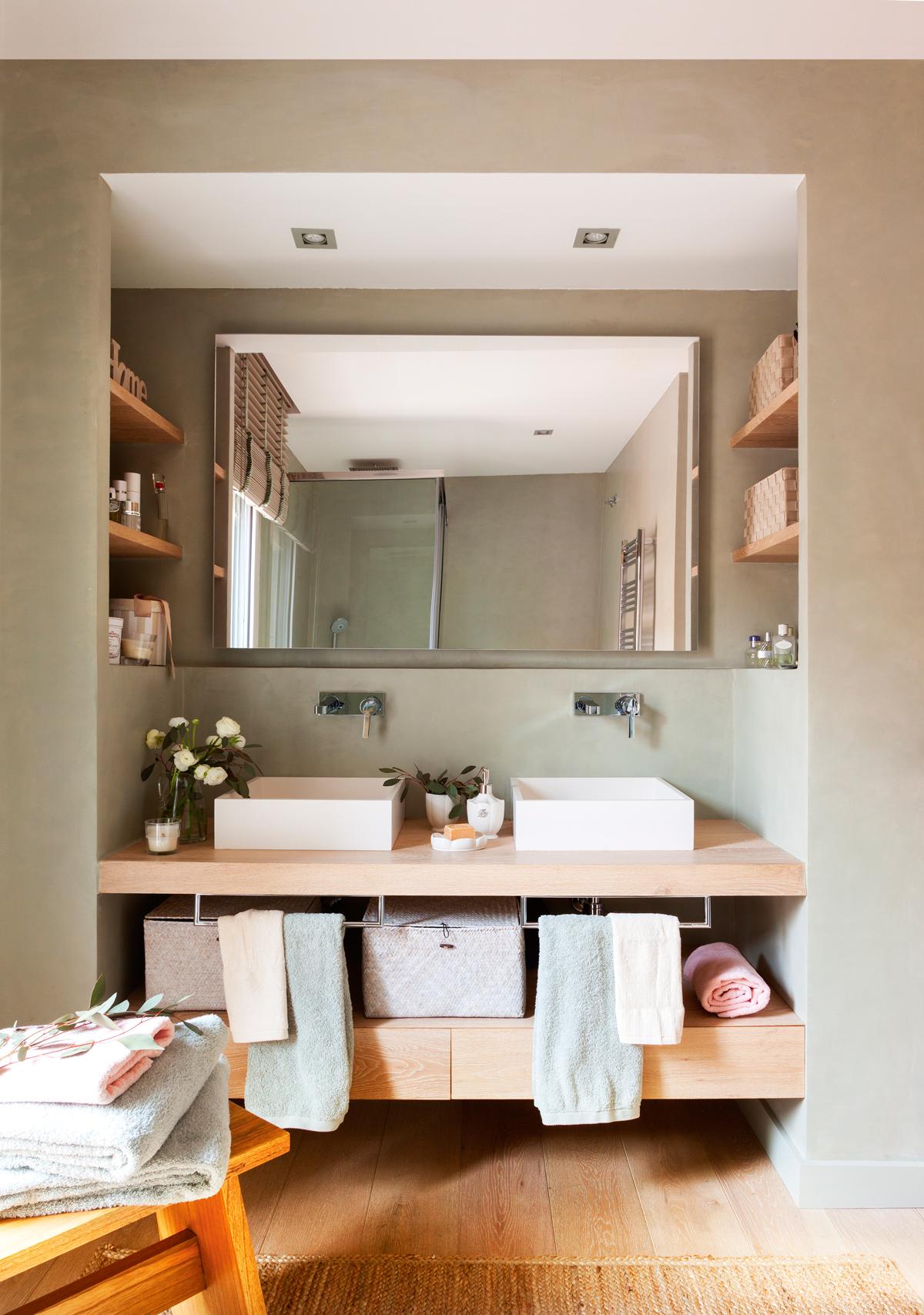 Hornacinas huecos decorativos y con espacio extra para - Muebles bano originales ...