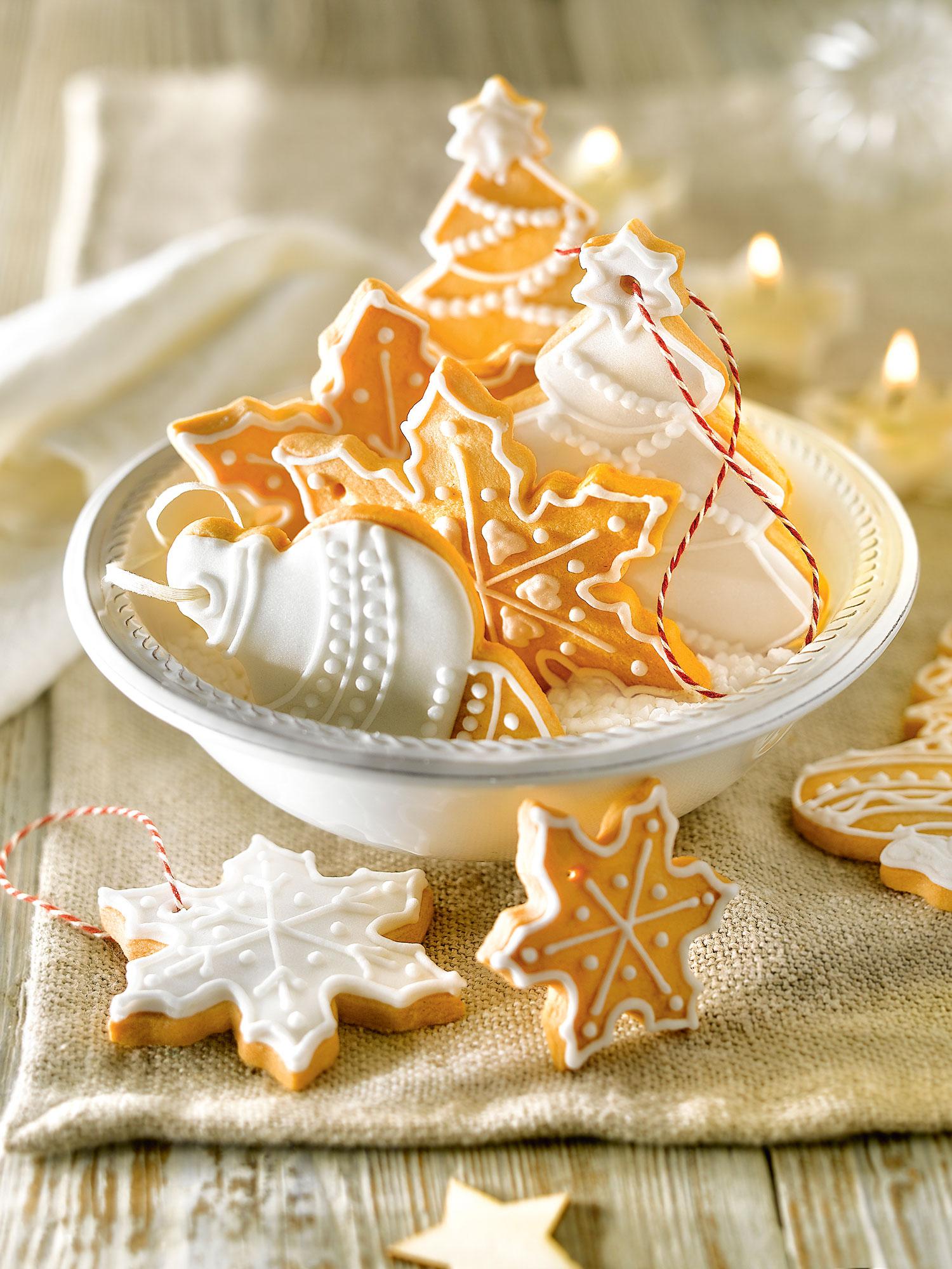 Galletas Decoradas Copo De Nieve Navidad