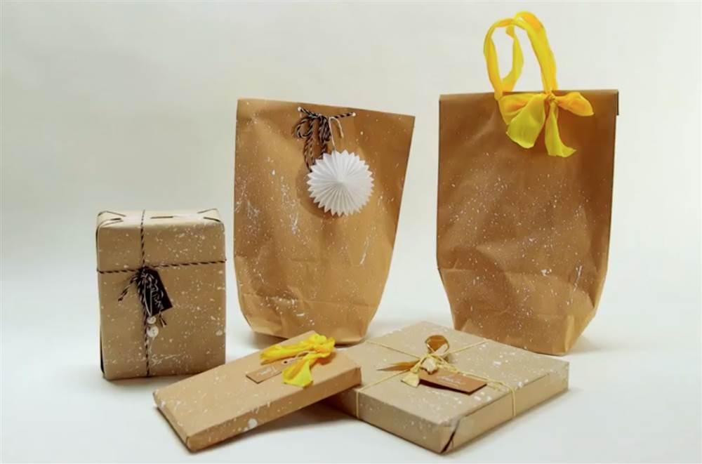 navidad diy crear envoltorios originales con pintura y papel craft