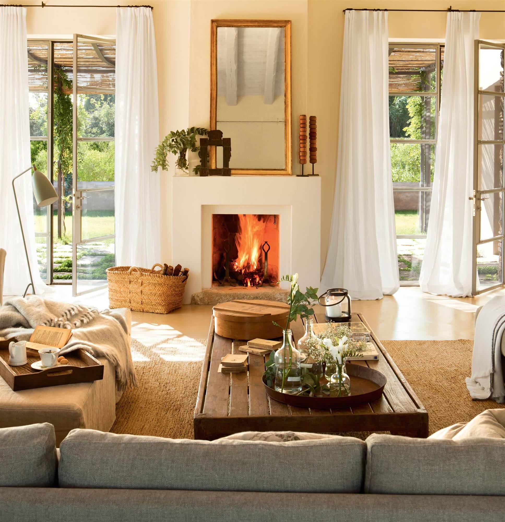 Ventajas de tener una chimenea en casa for Espejos decorativos para chimeneas