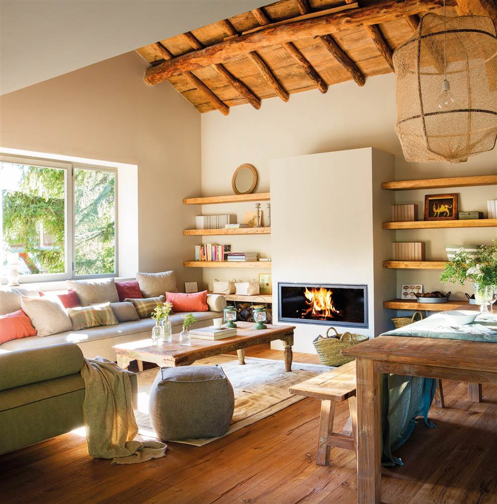Una casita de monta a en cerler con mucha madera y encanto for Casa practica decoracion