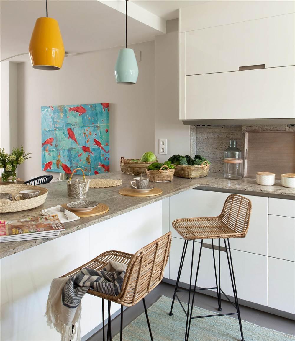 C mo tener un office en la cocina - Cocina salon comedor integrados ...