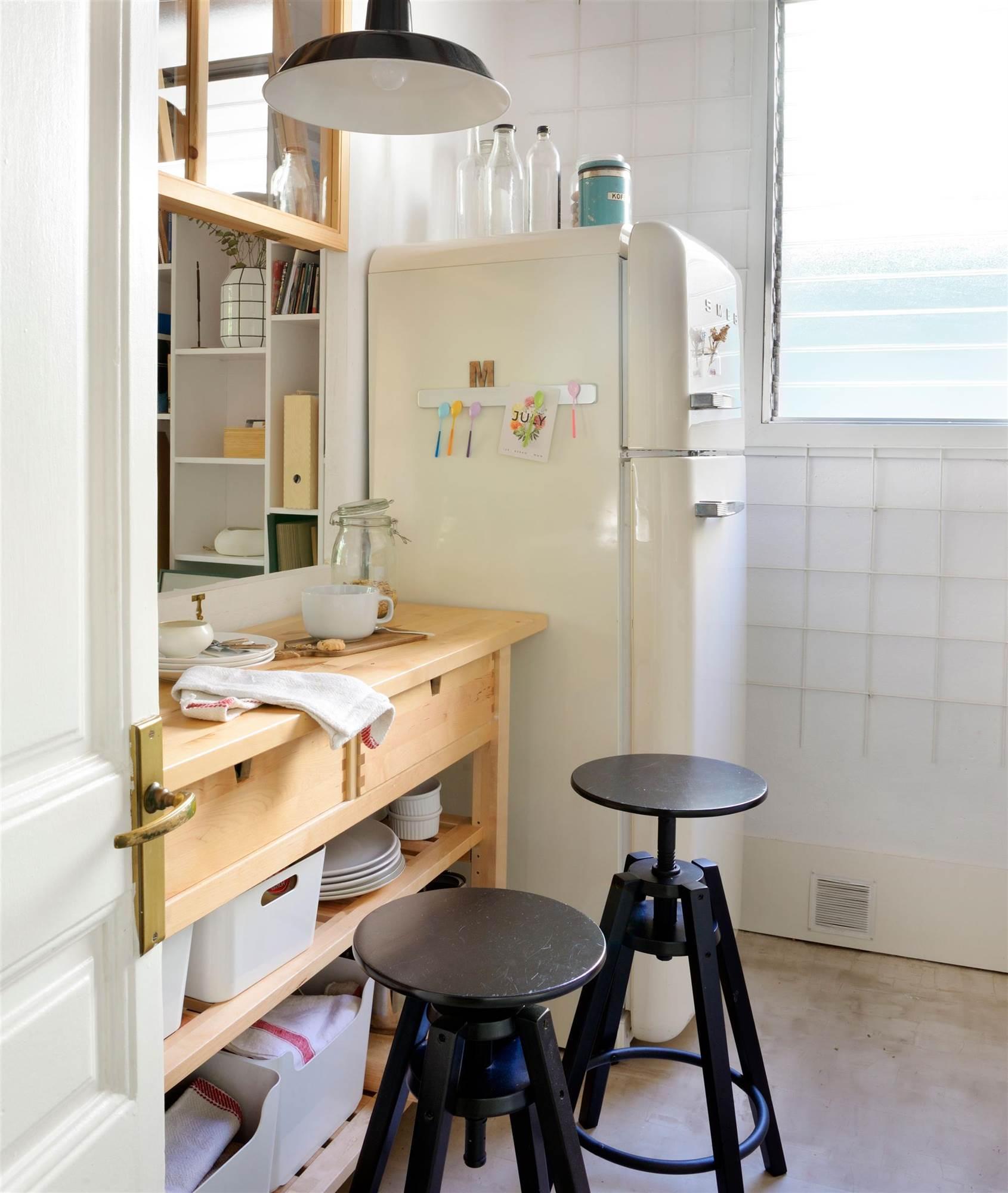 Cómo tener un office en la cocina