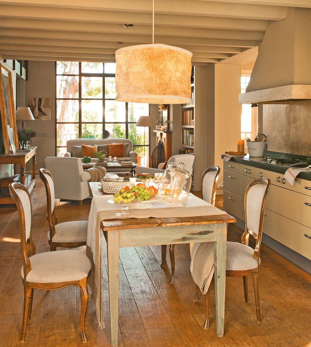 Ideas para ganar metros y ampliar visualmente pisos peque os for Ideas para cocina comedor pequenos