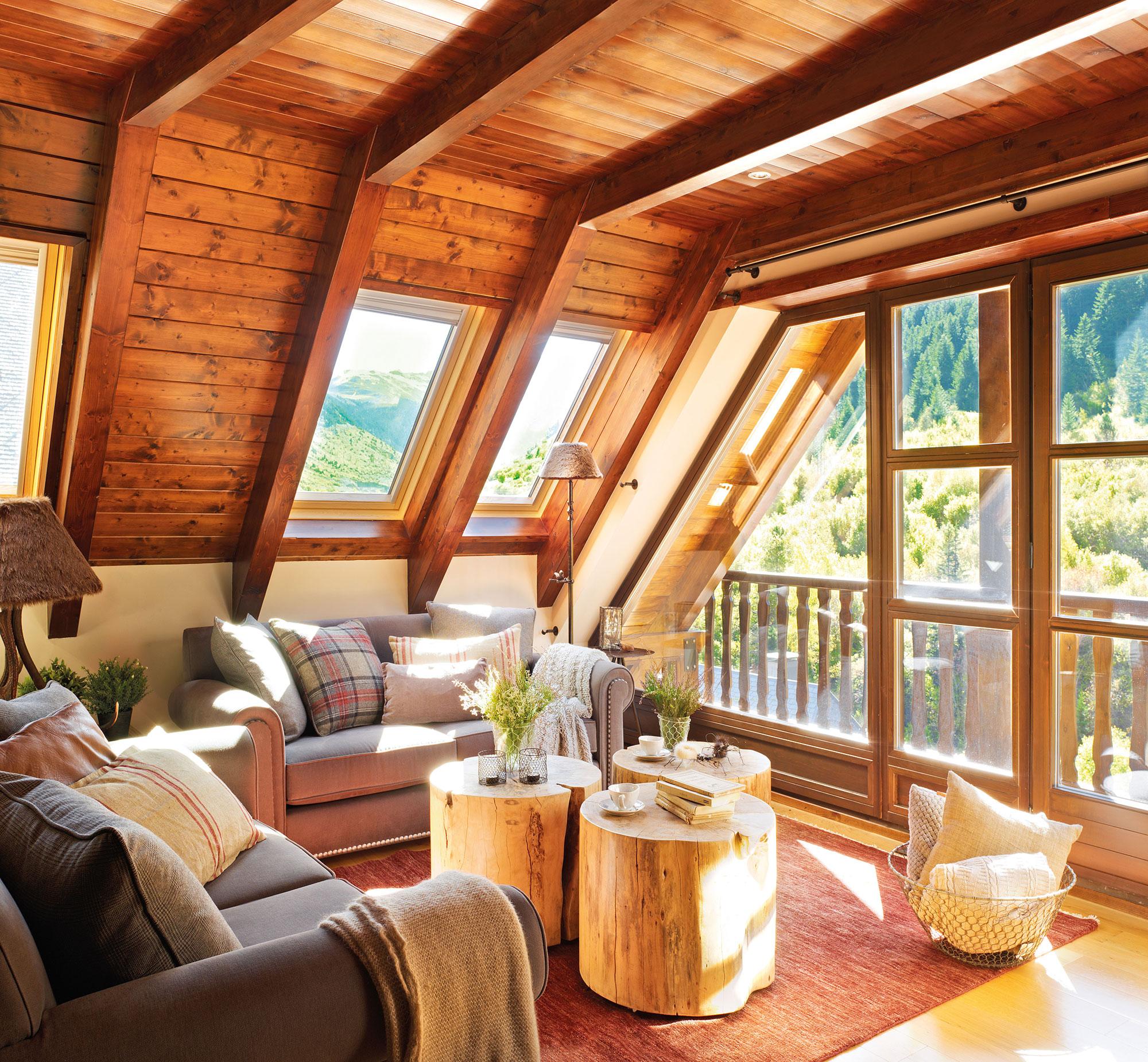 15 salones r sticos c lidos y con muy buenas ideas - Decoracion casa de madera ...