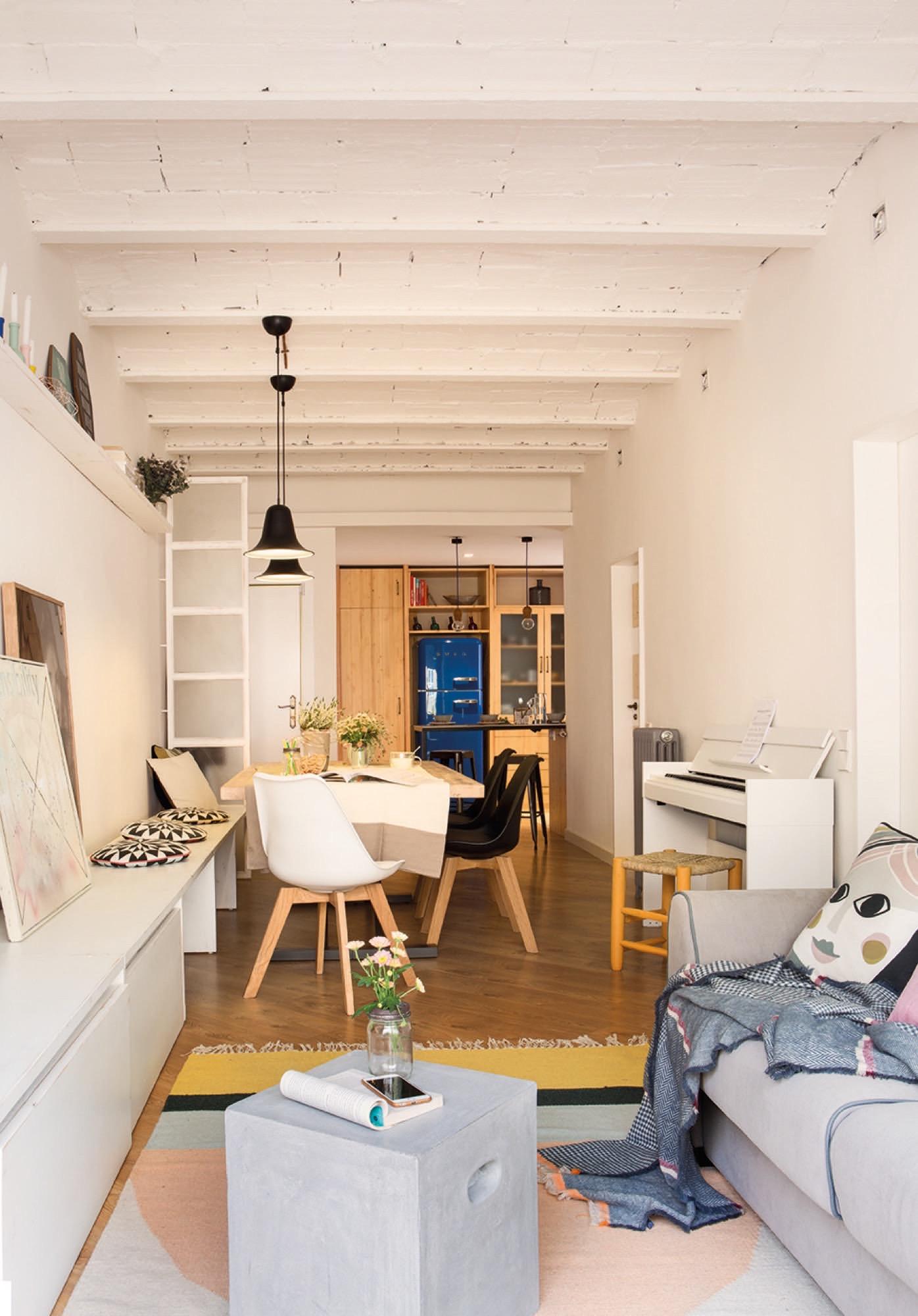 80 metros muy bien aprovechados for Piso cocinas minimalistas