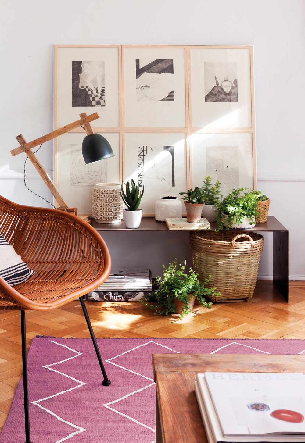 20 ideas para ganar calidez - Decoracion mimbre ...