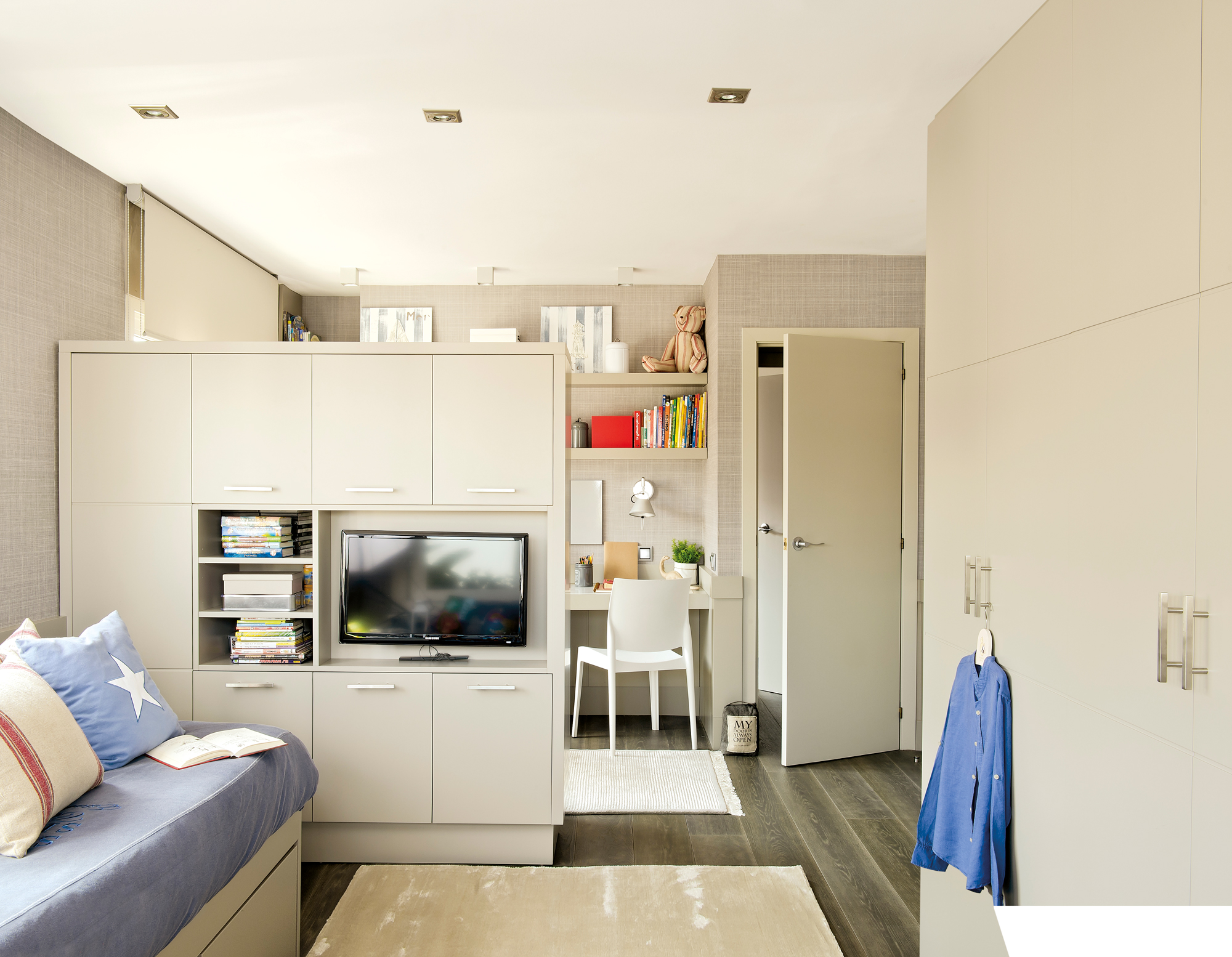 Muebles vers tiles con doble funci n ideales para espacios for Mueble esquinero para dormitorio