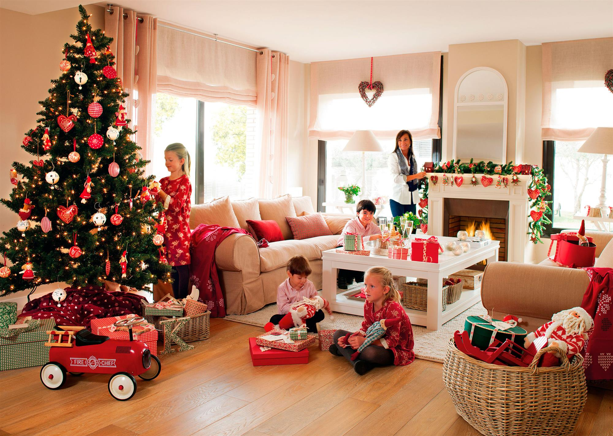 Casa decorada para navidad - Decoracion de navidad para ninos ...