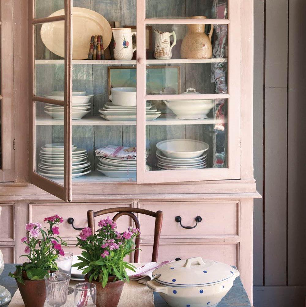 Muebles Pintados En Blanco Y Gris Nuevamente La Elegancia Clsica