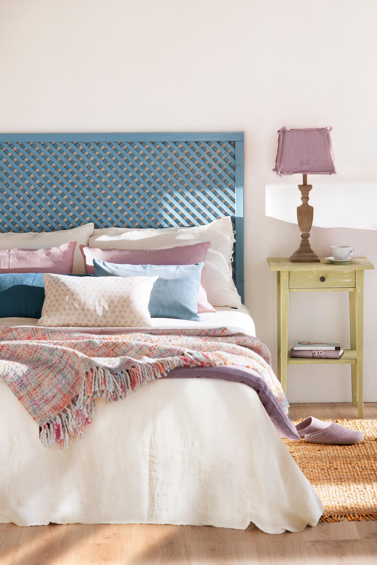 Renovar muebles pintando gana vida y color - Cabeceros artesanales ...