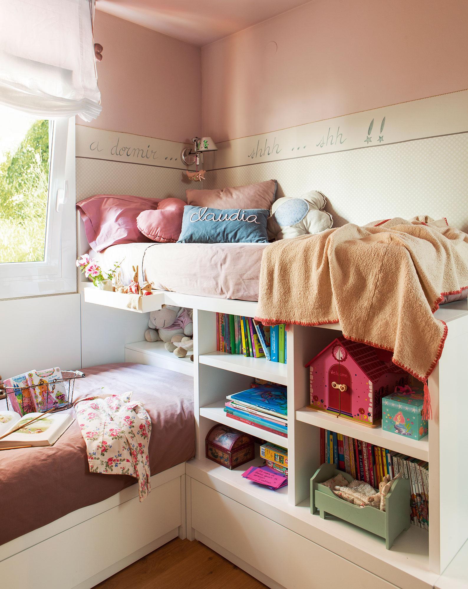 Librer as 15 buenas ideas para guardar y tener en orden - Dormitorios con literas ...