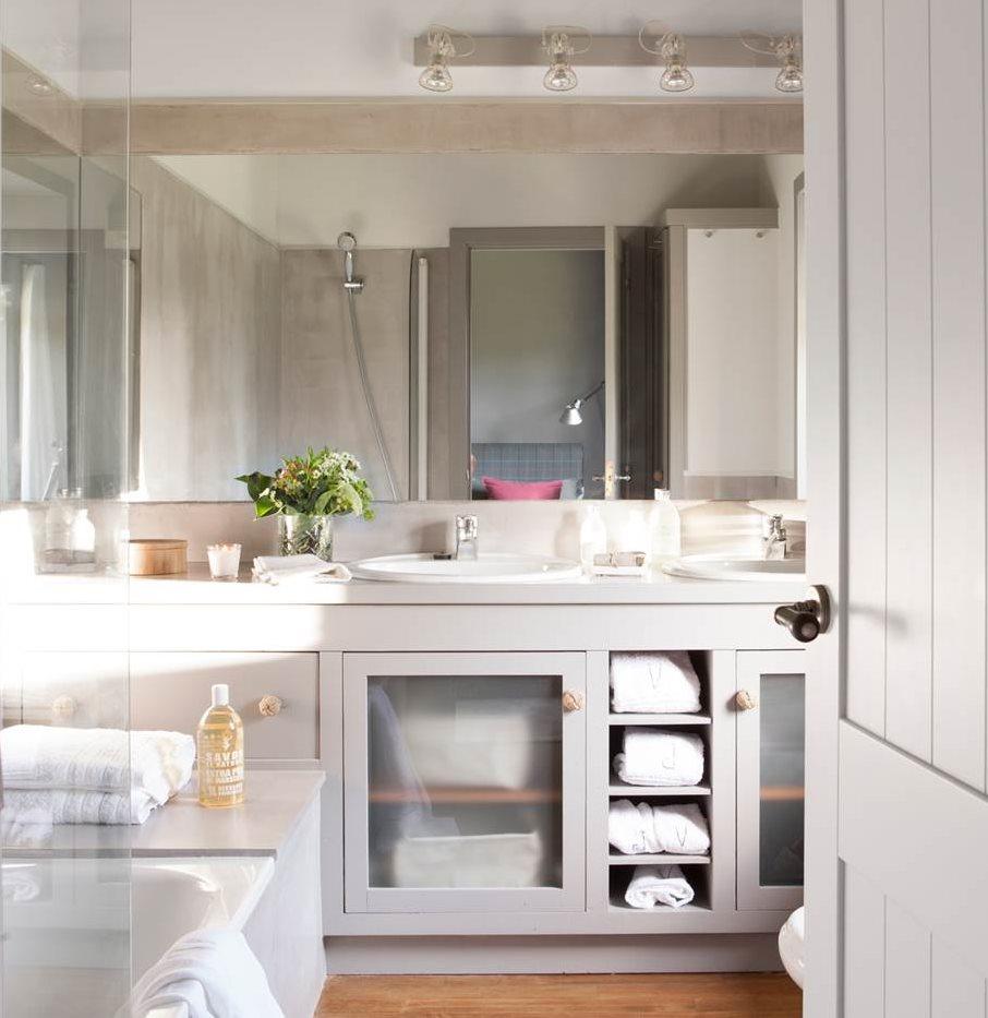 Como hacer mueble para lavabo ideas para el bao con for Muebles para debajo del lavabo