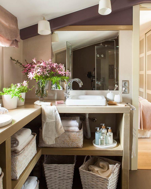 Baño Pequeno Microcemento:Hay baños que son verdaderos retos para el ingenio Con el techo