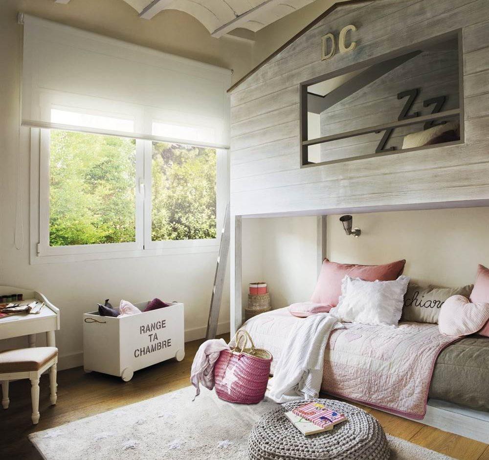Habitaciones infantiles con dormitorio y zona de juegos - Habitacion con literas ...