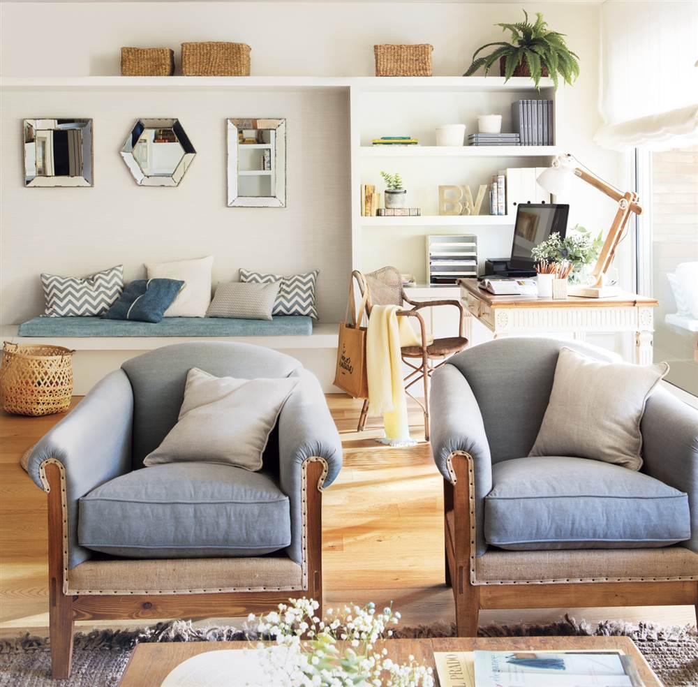 Una oficina convertida en la casa para una familia numerosa - Butacas para salon ...