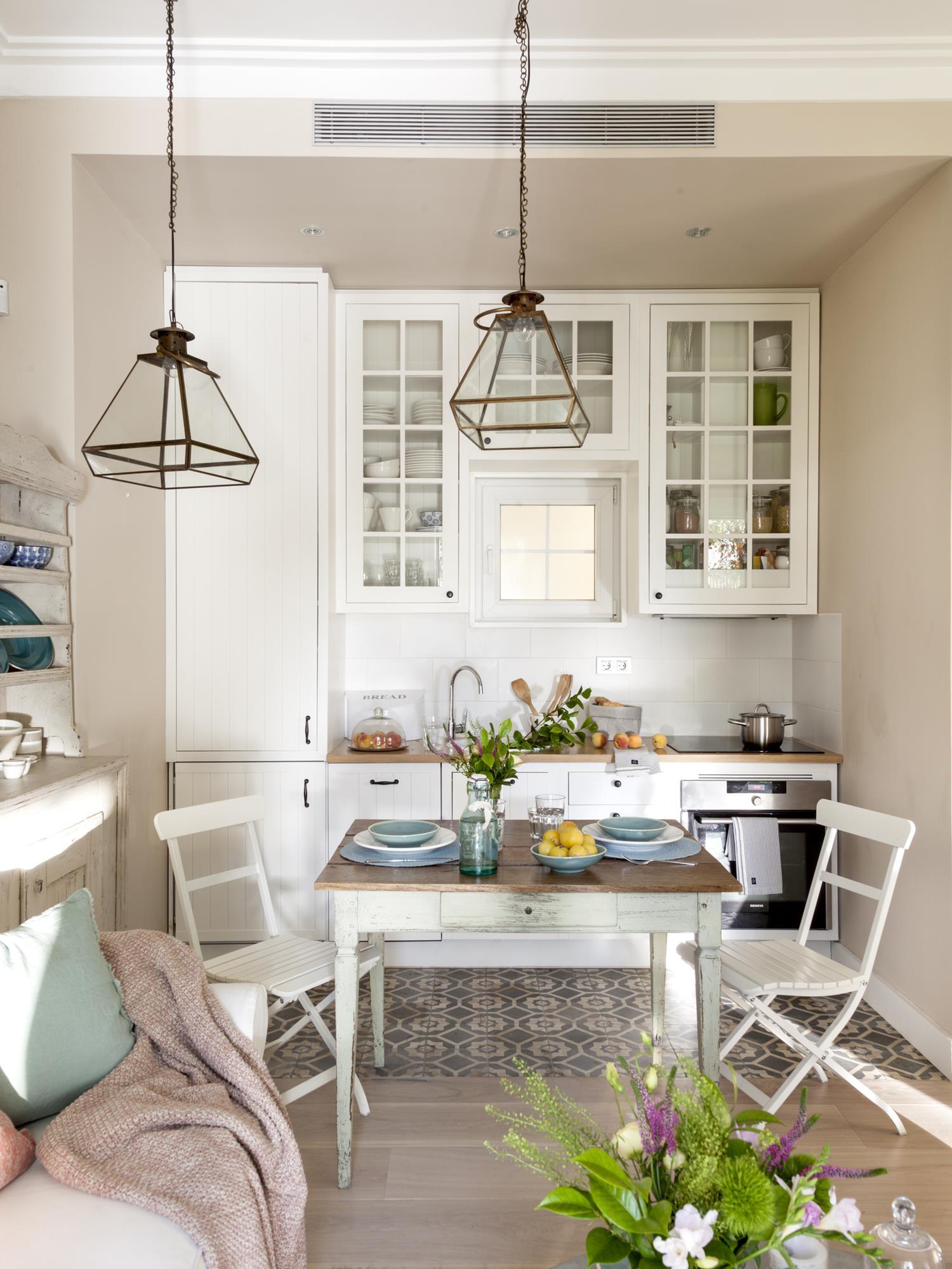 Cocinas Muebles Decoraci N Dise O Blancas O Peque As Elmueble ~ Soluciones Para Cocinas Muy Pequeñas