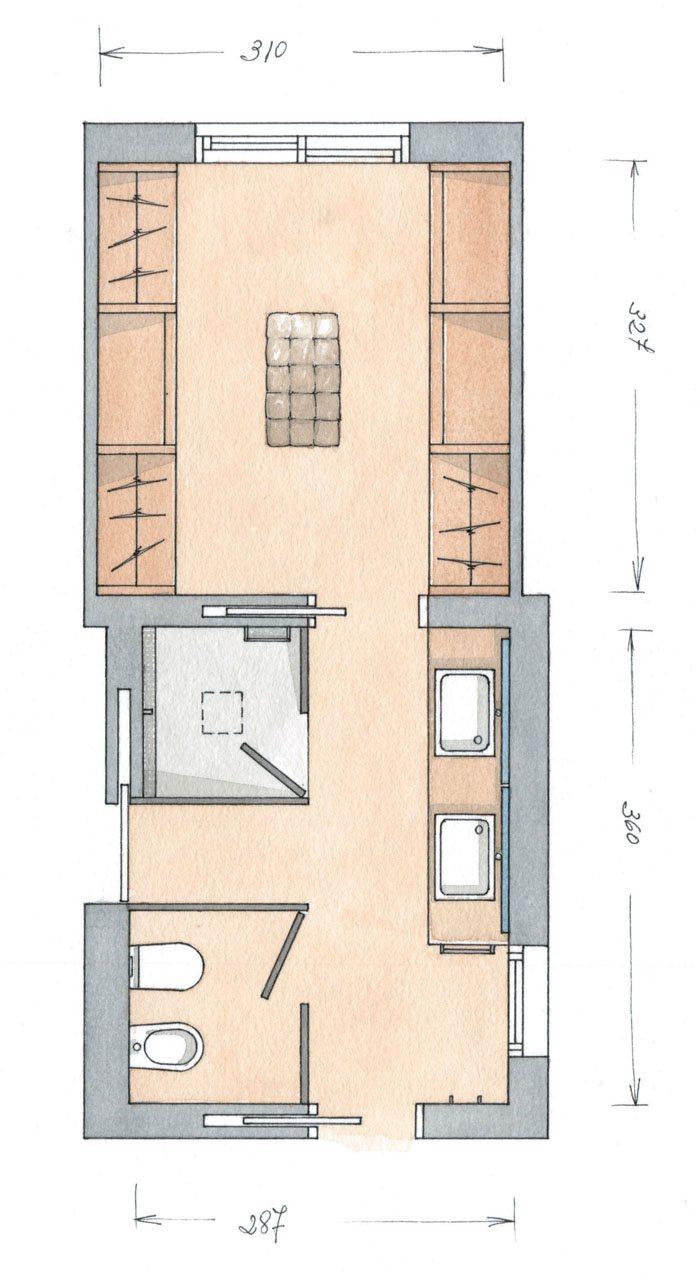 Ba os con vestidor for Creador de planos sencillos para viviendas y locales