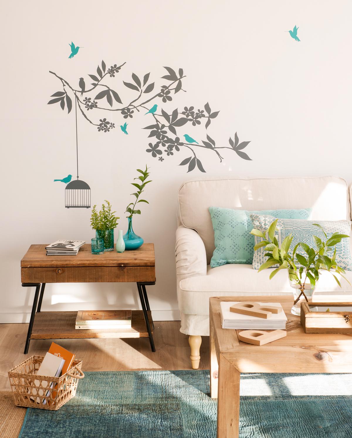 Decora tu casa con vinilos for Decoracion de la pared para el dormitorio
