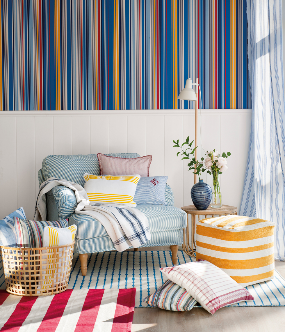Ideas decorativas con rayas - Ikea textiles y alfombras ...