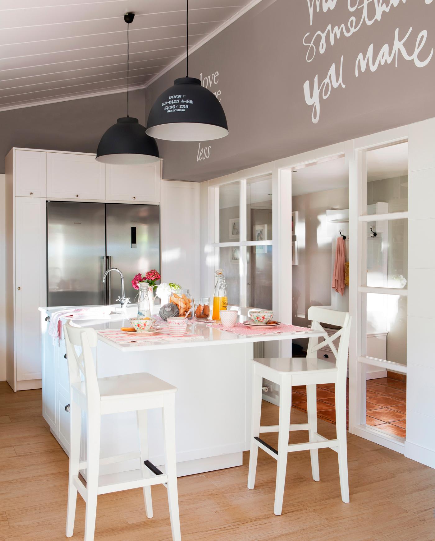 Vinilo para pared de cocina amazing vinilos decorativos adhesivos cocina frase quijote with - Pegatinas para cocinas ...