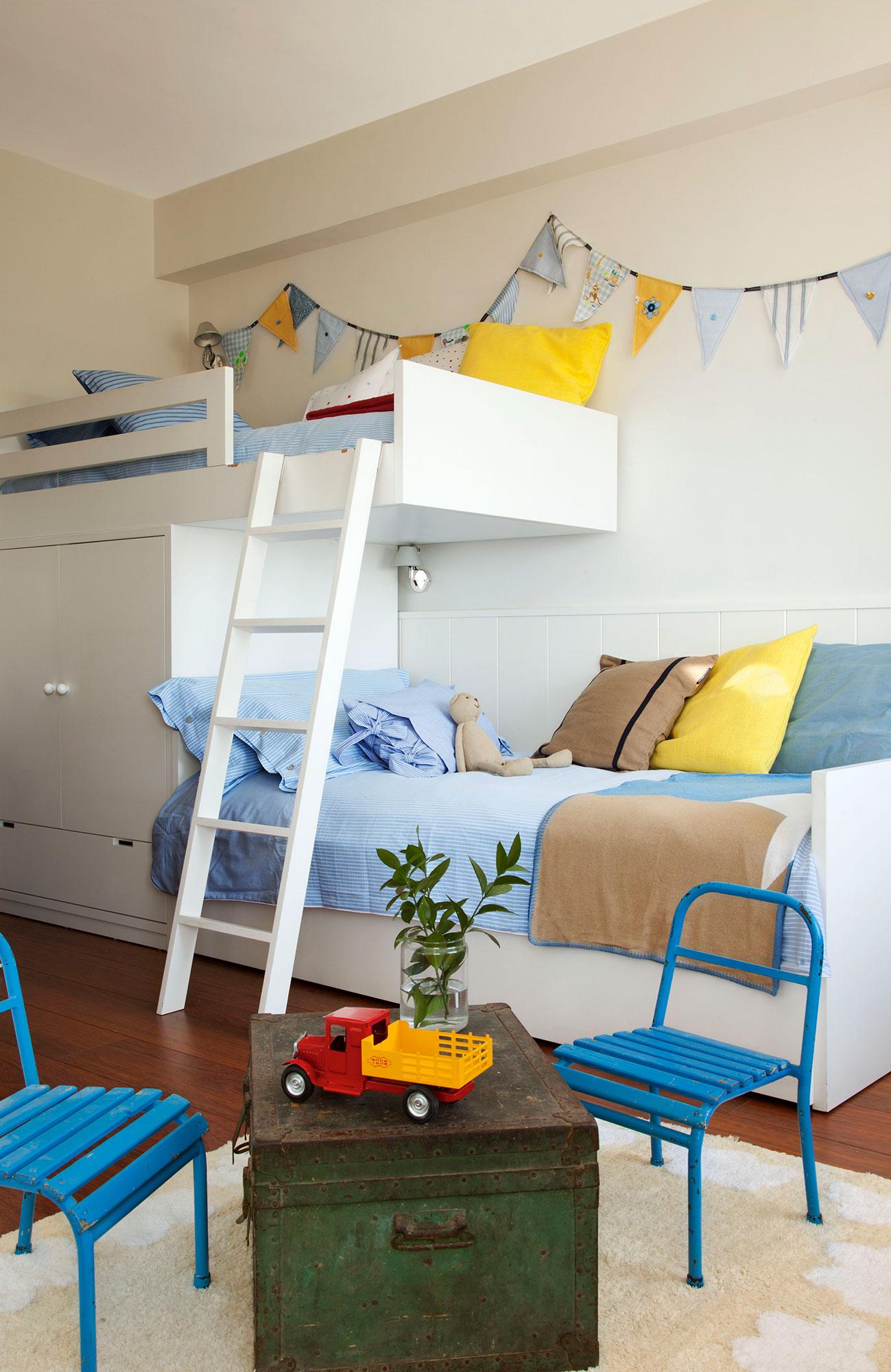 Habitaciones infantiles c mo cambian con el tiempo - Literas tren infantiles ...