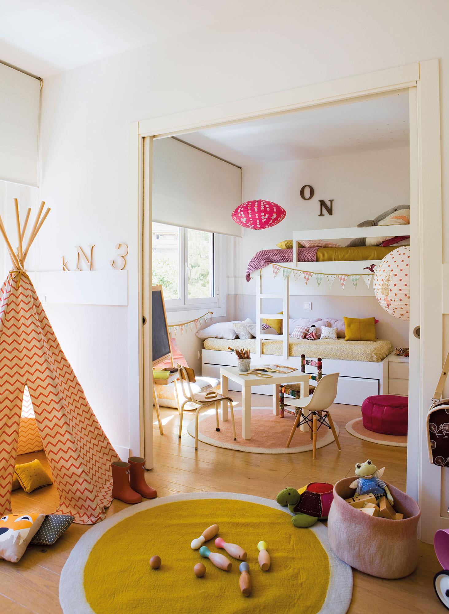 Habitaciones infantiles c mo cambian con el tiempo for Habitacion que utiliza un conserje