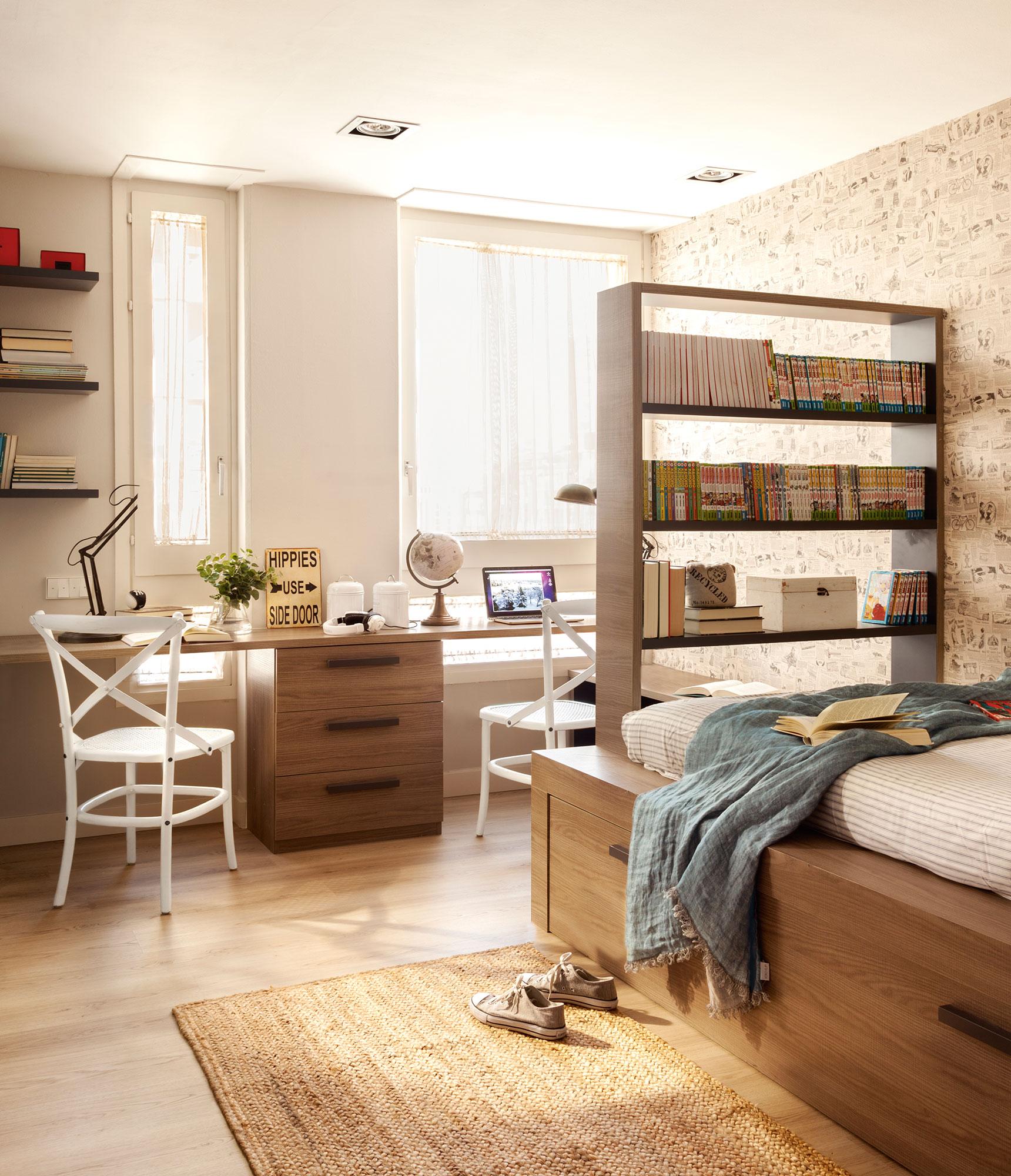 Habitaciones infantiles c mo cambian con el tiempo for Dormitorios juveniles con cama grande