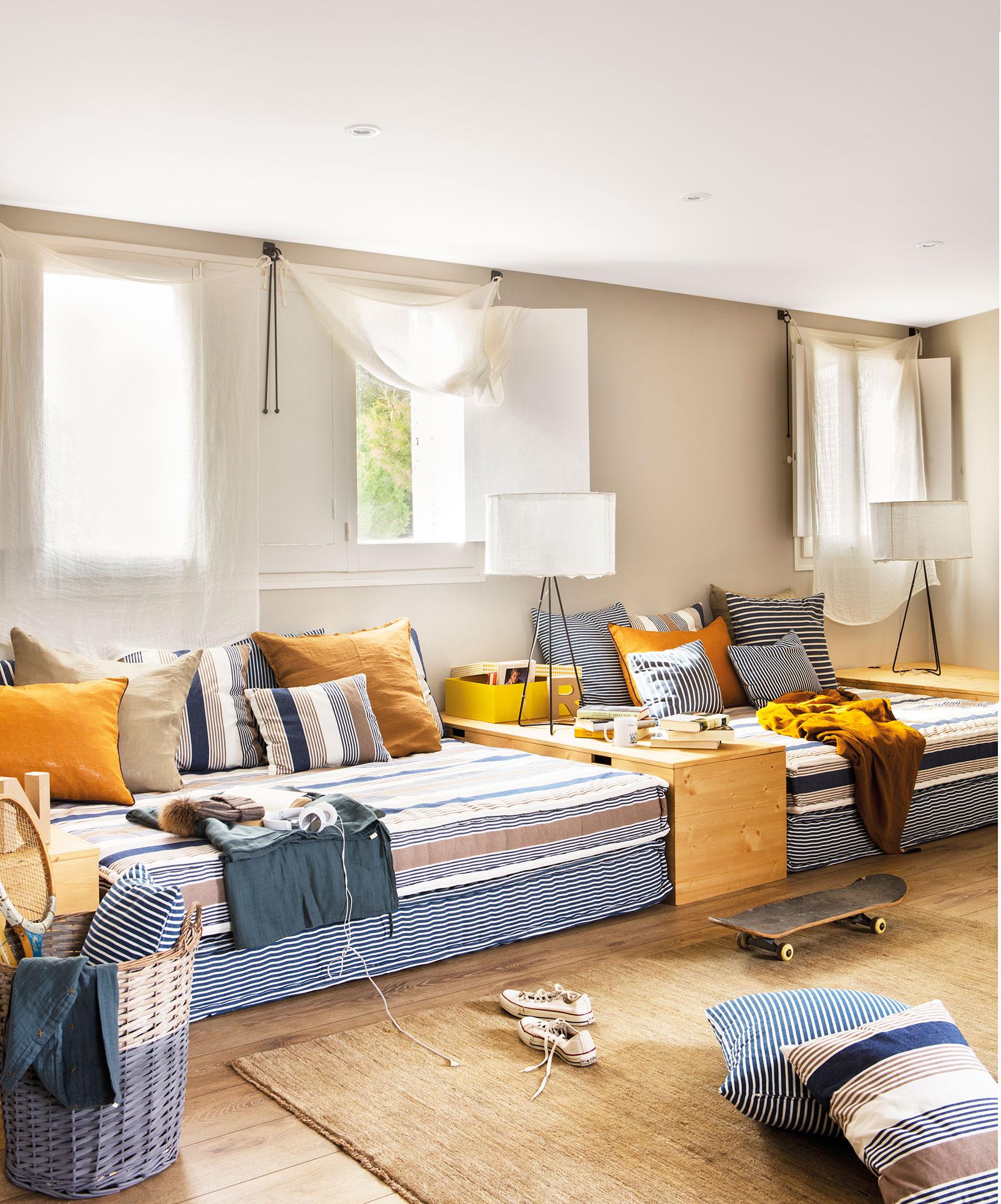 Claves para decorar la habitaci n de los ni os de beb a - Habitaciones juveniles 2 camas ...