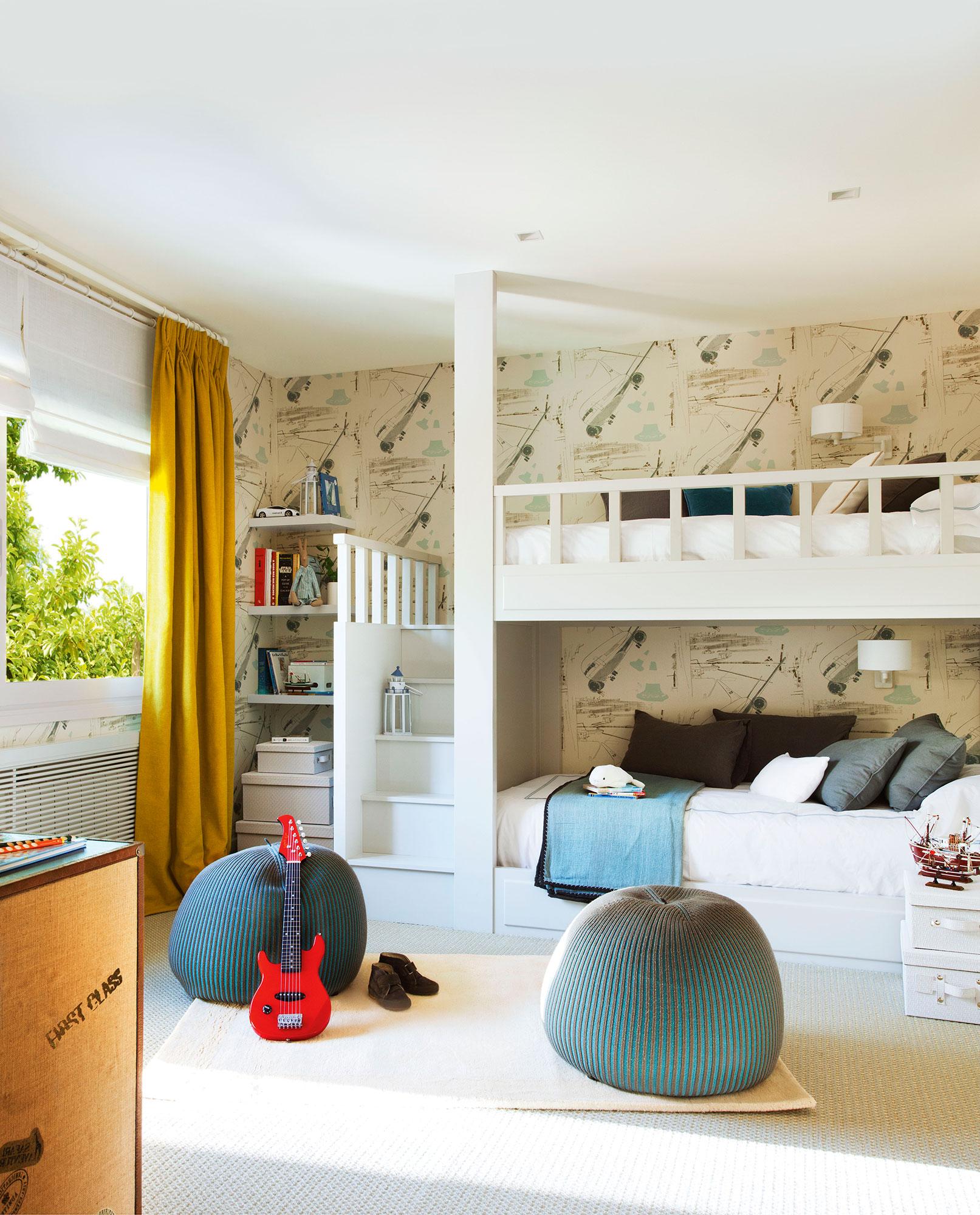Claves para decorar la habitaci n de los ni os de beb a - Papel pintado para dormitorio juvenil ...