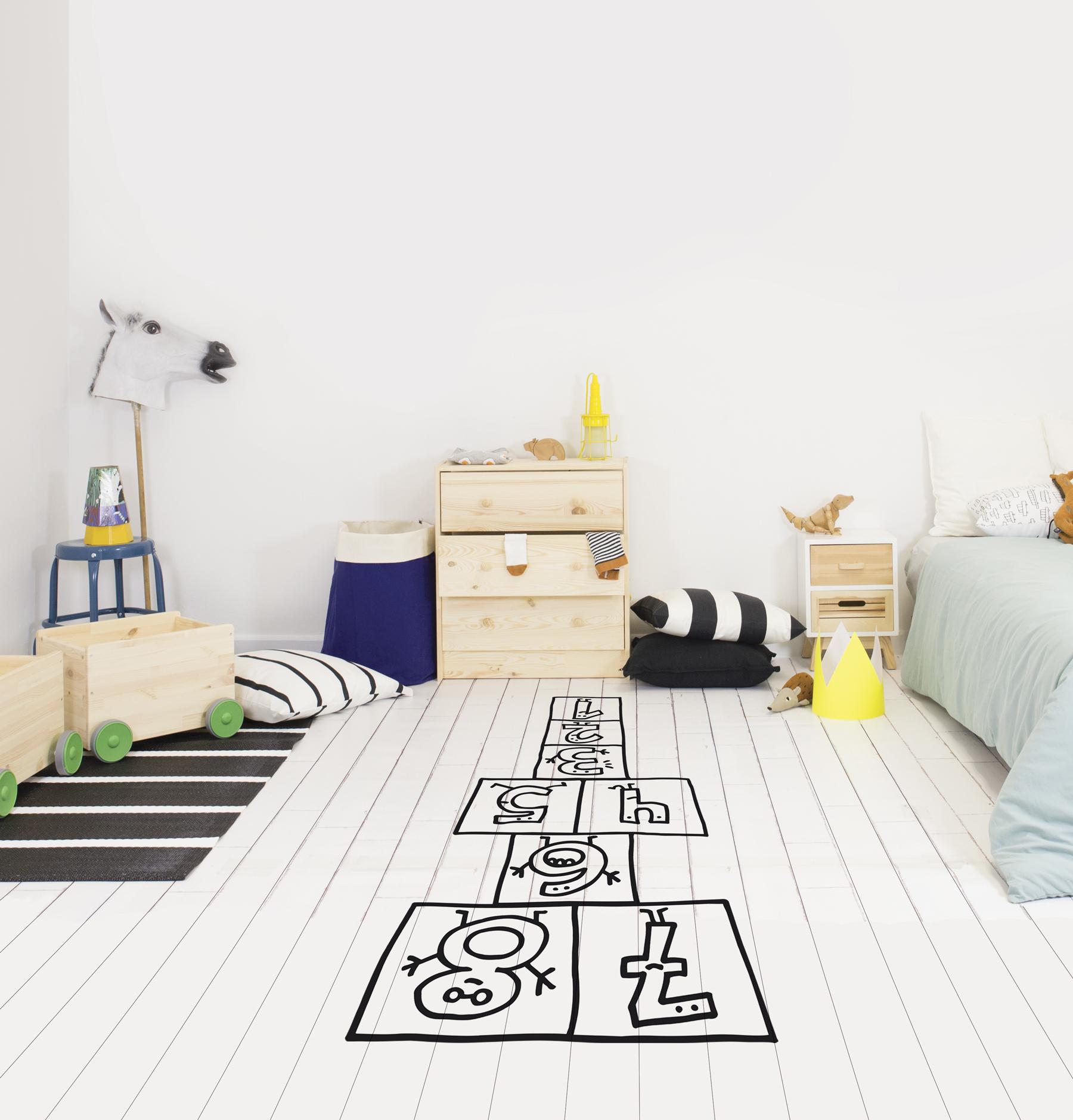 Suelo habitacion infantil habitacin infantil con dos - Suelos de vinilo infantiles ...