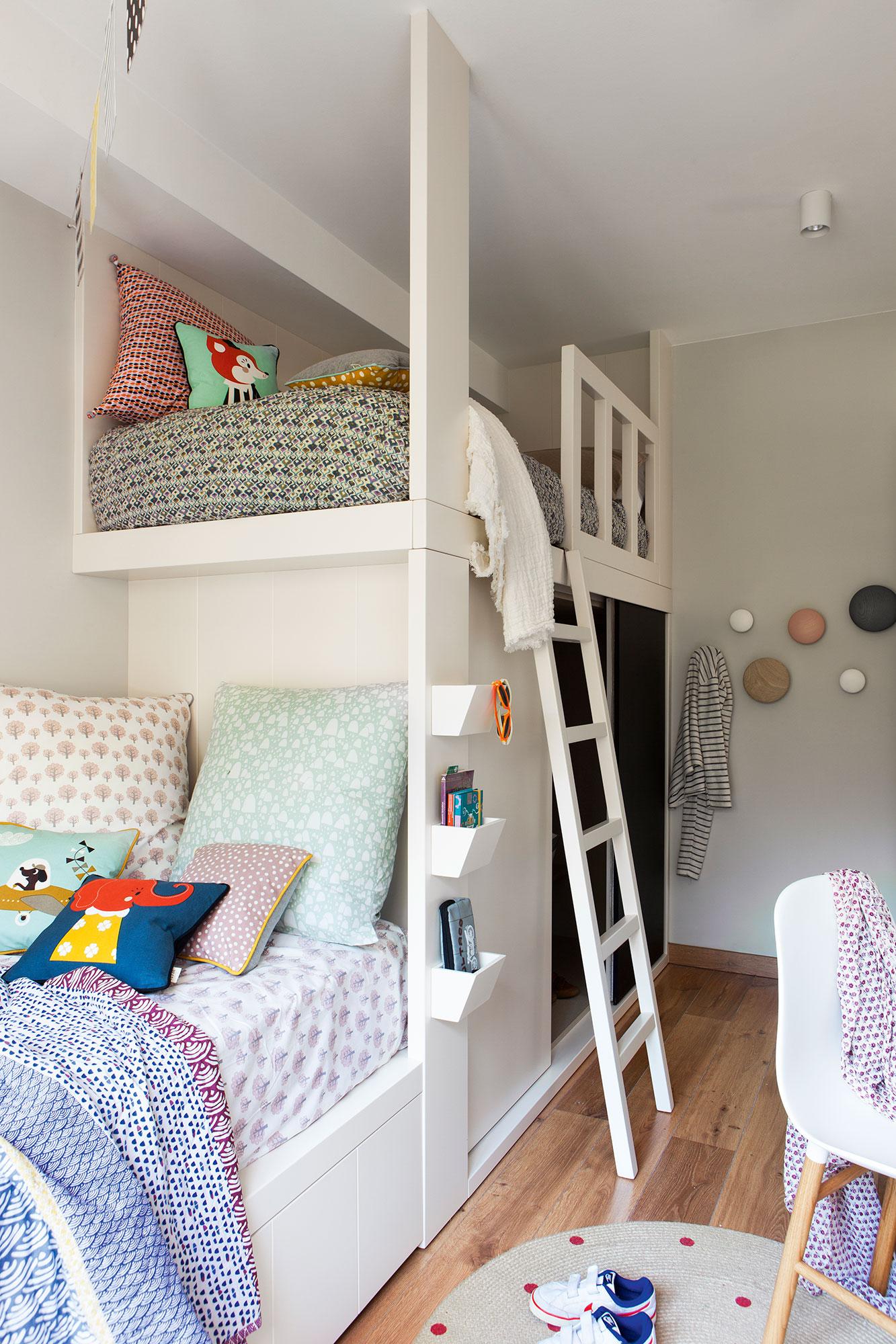 Dormitorios infantiles 7 buenas ideas para compartir - Habitaciones infantiles tren ...