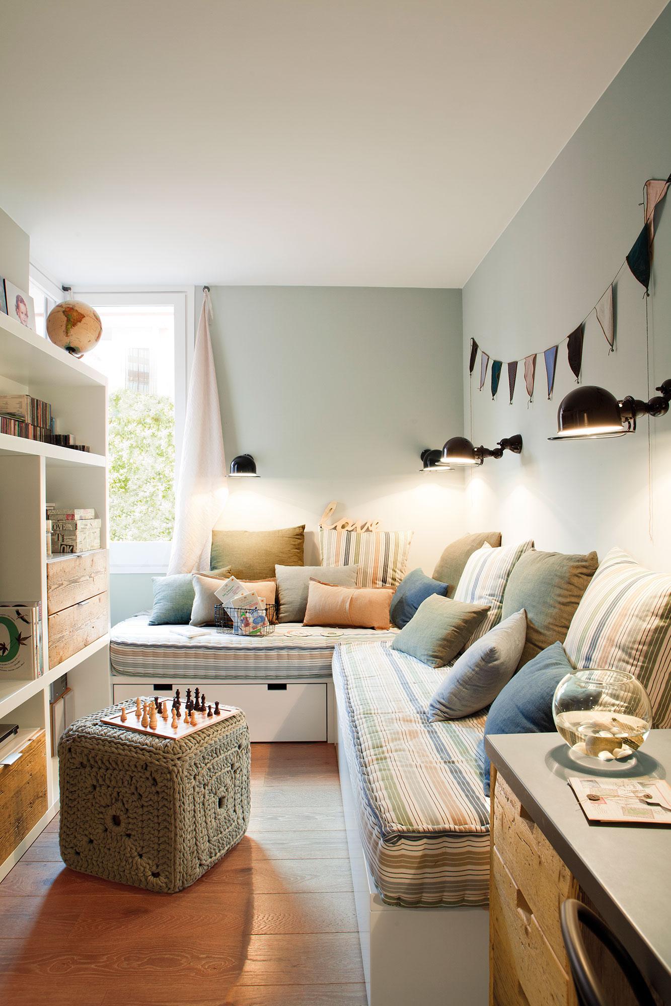 Dormitorios infantiles 7 buenas ideas para compartir for Sofa cama para habitacion juvenil