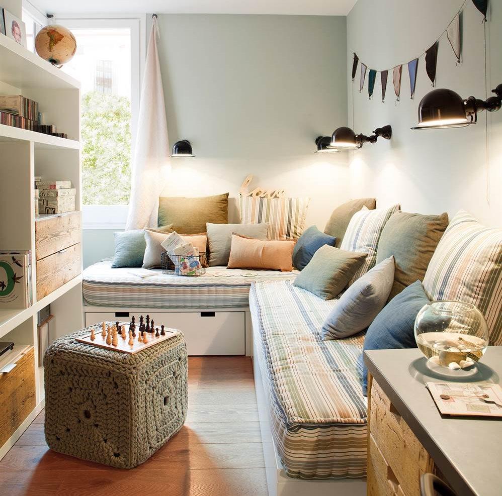 Dormitorios infantiles 7 buenas ideas para compartir for Habitacion juvenil dos camas