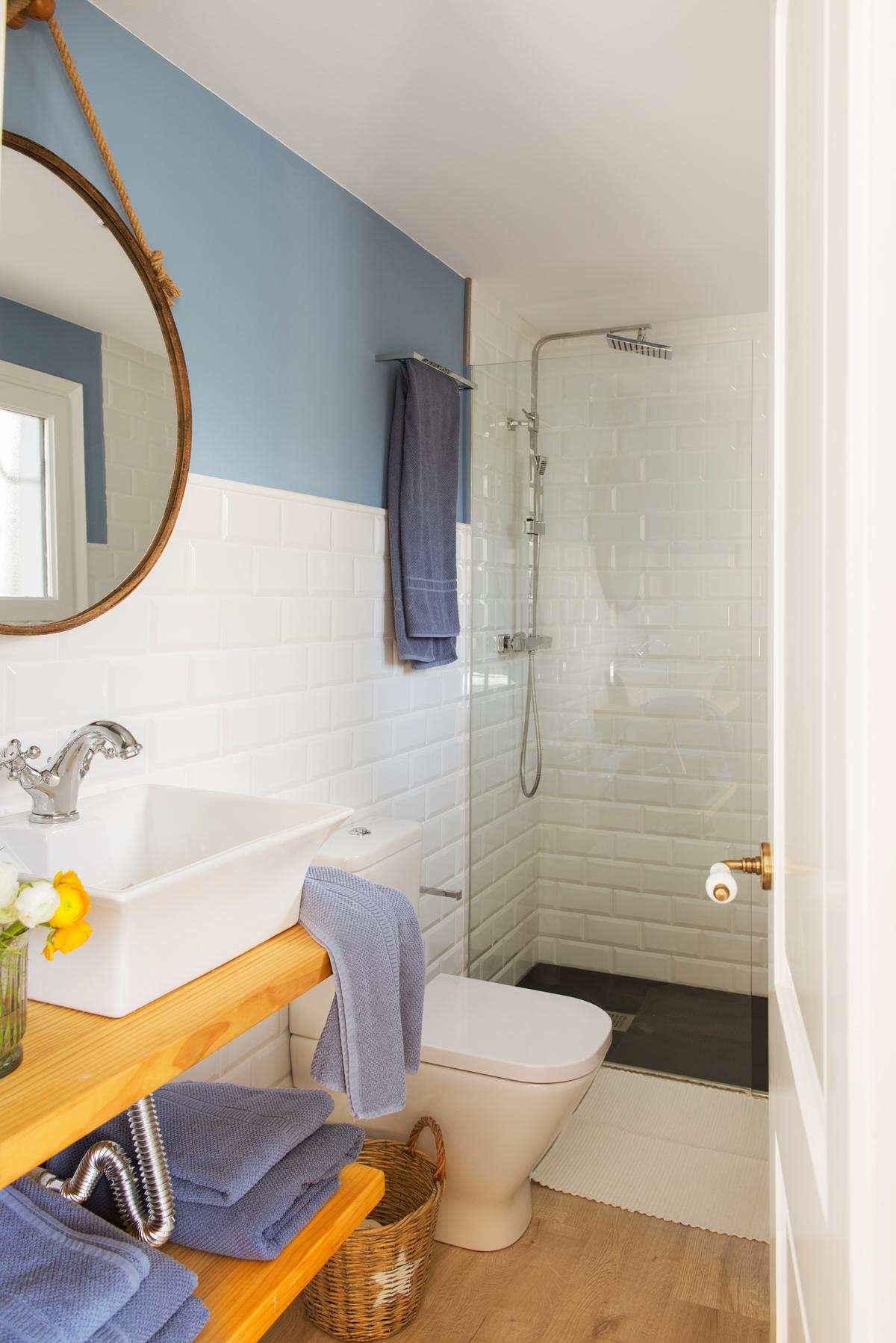 10 ideas geniales para ba os peque os - Espejo para ducha ...