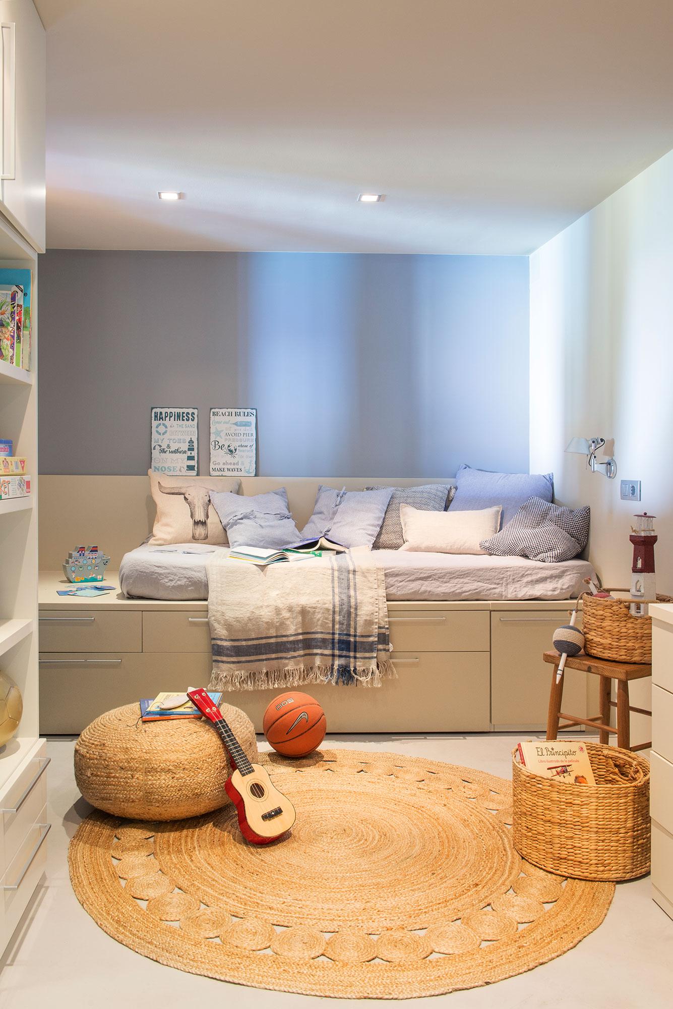 Dormitorios infantiles 7 buenas ideas para compartir for Dormitorio juvenil cama alta