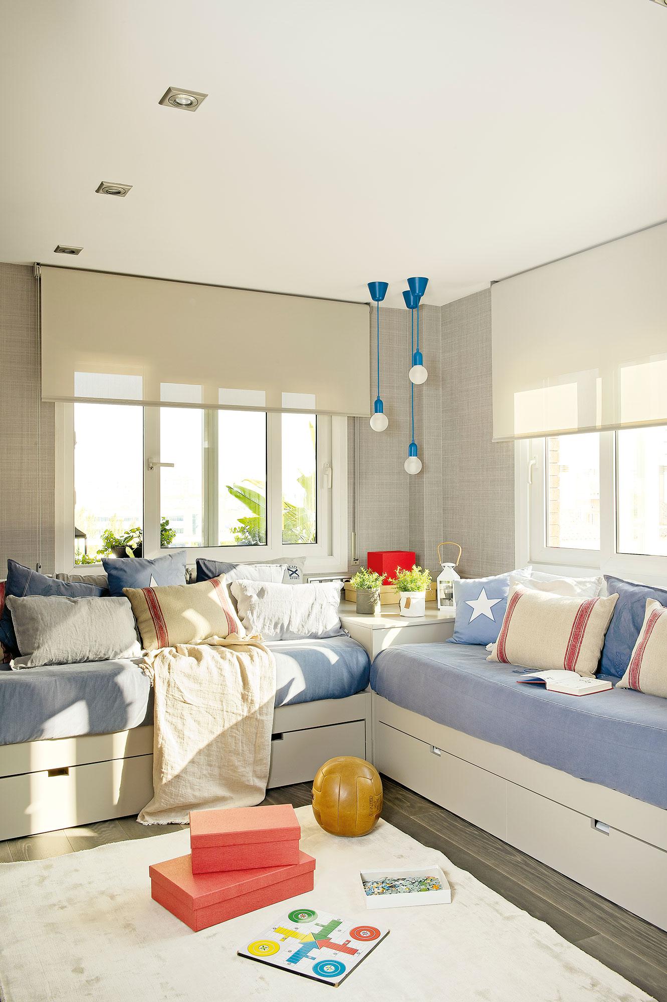 Dormitorios infantiles 7 buenas ideas para compartir Dormitorio juvenil en l