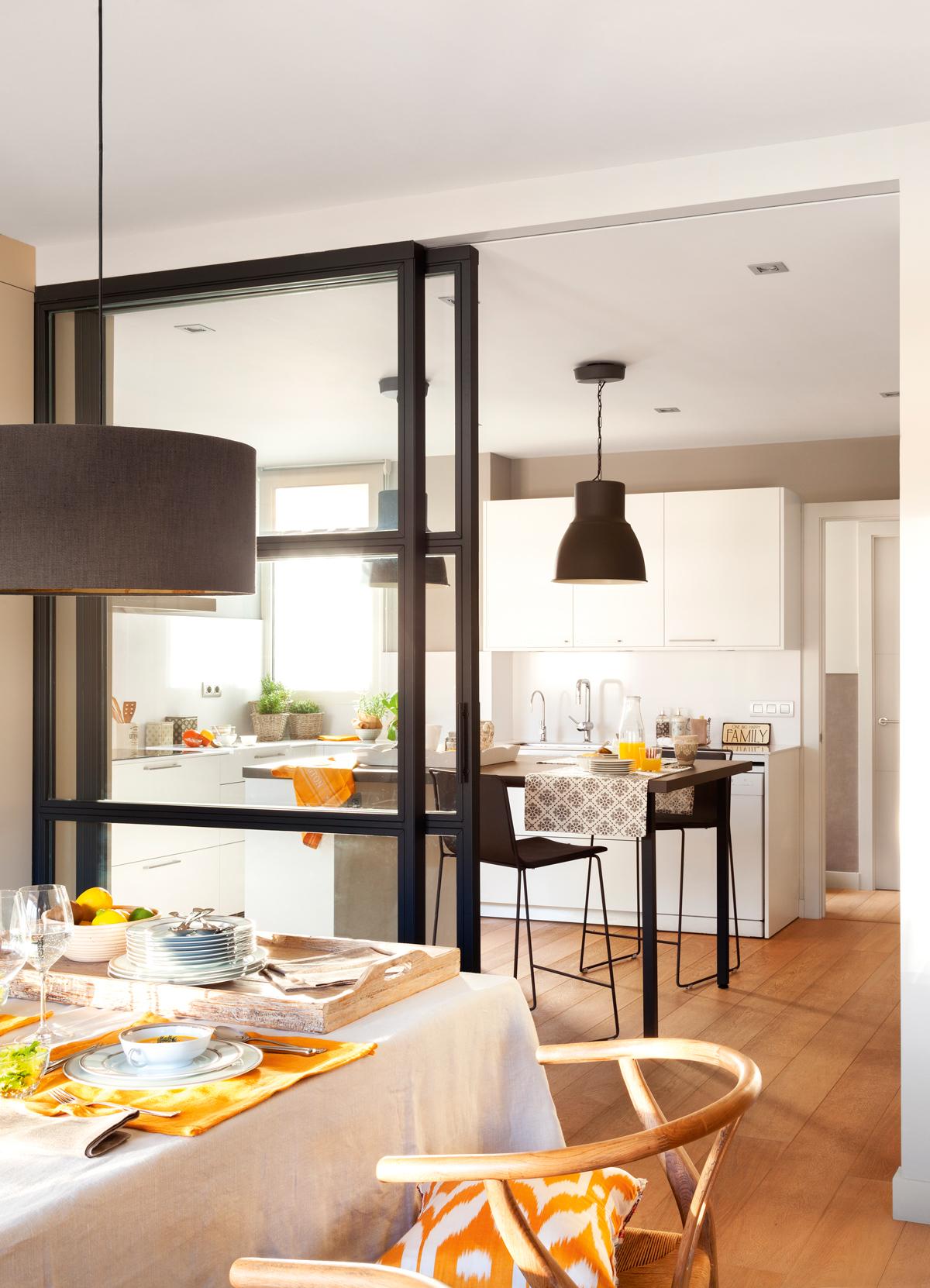 20 l mparas para decorar toda tu casa for Separacion entre cocina y comedor