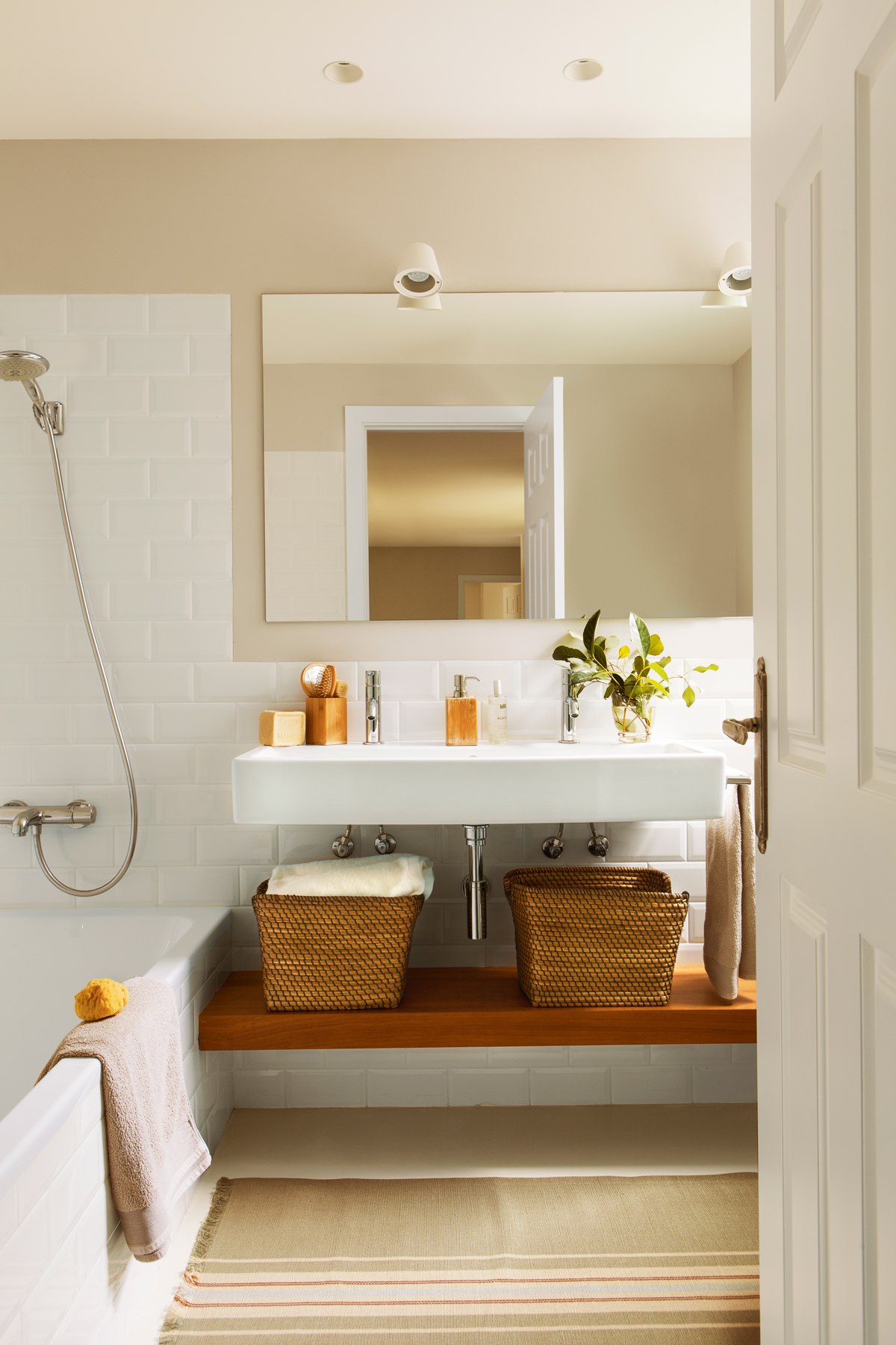 Un lavamanos para cada ba o - Baldas bano leroy merlin ...