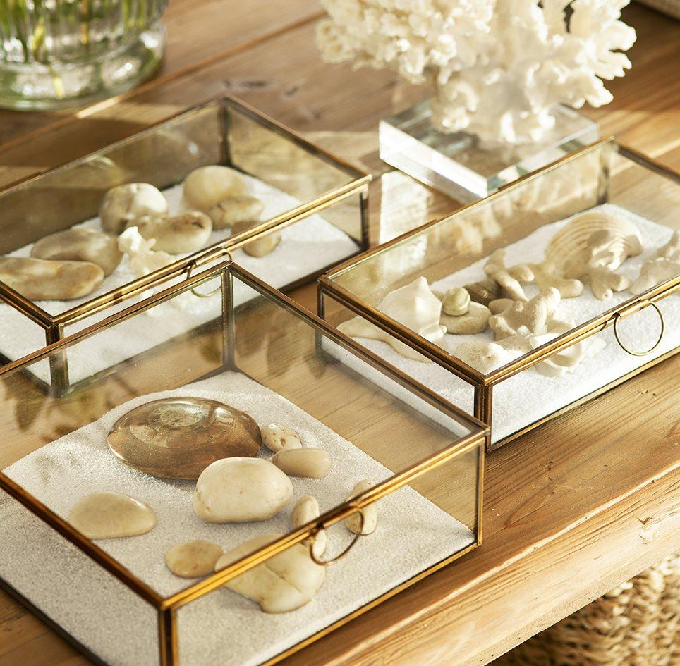Detalles originales y manualidades para dar un giro a la decoraci n - Sobre de cristal para mesa ...