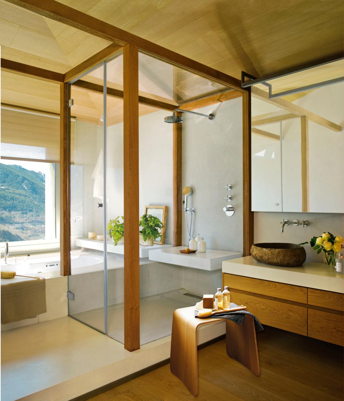 10 ba os con ducha perfectos for Banos con ducha cabina