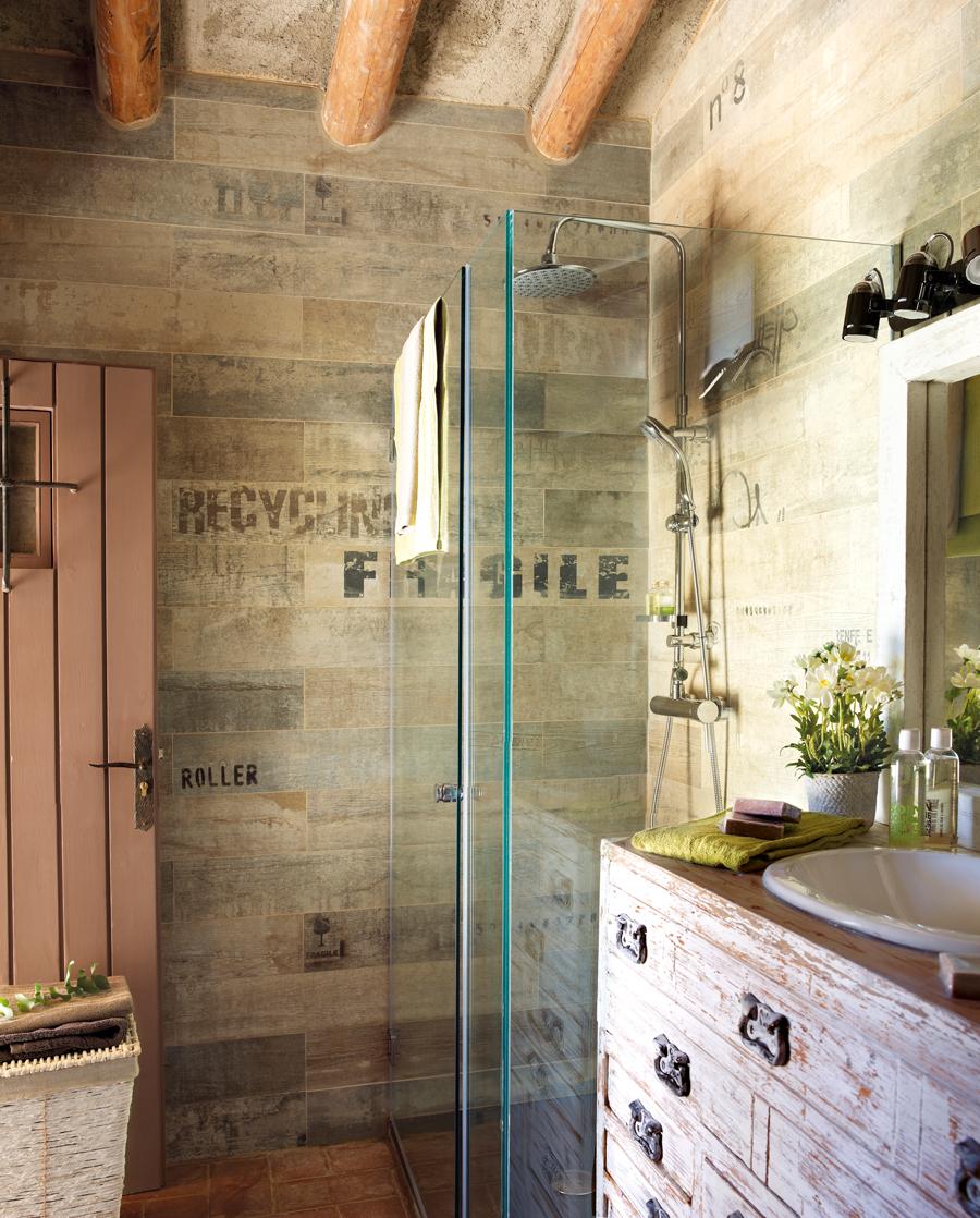 10 ba os con ducha perfectos for Pisos ceramicos para banos pequenos