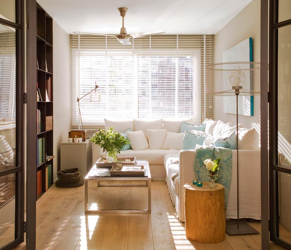 Salones peque os con ideas para ganar espacio for Decoracion interiores apartamentos pequenos