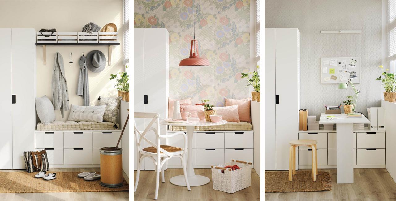 El mismo mueble tres usos distintos - Muebles entradas ikea ...