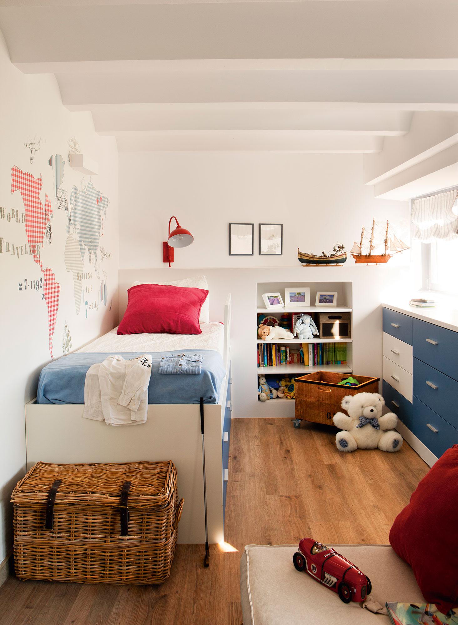 Soluciones para ordenar y guardar los juguetes - Dormitorios sin cabecero ...