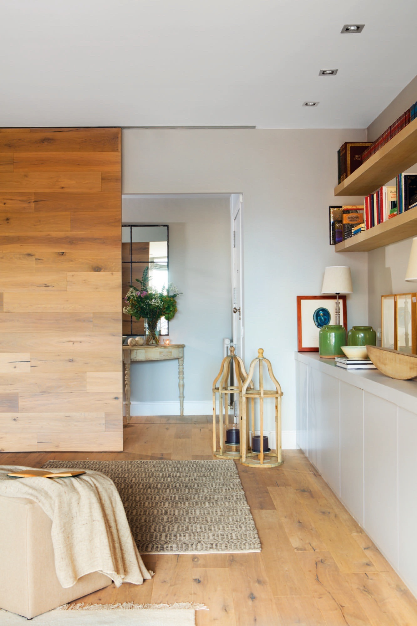 Puertas correderas de cristal de madera o empotradas for Puertas de habitaciones modernas