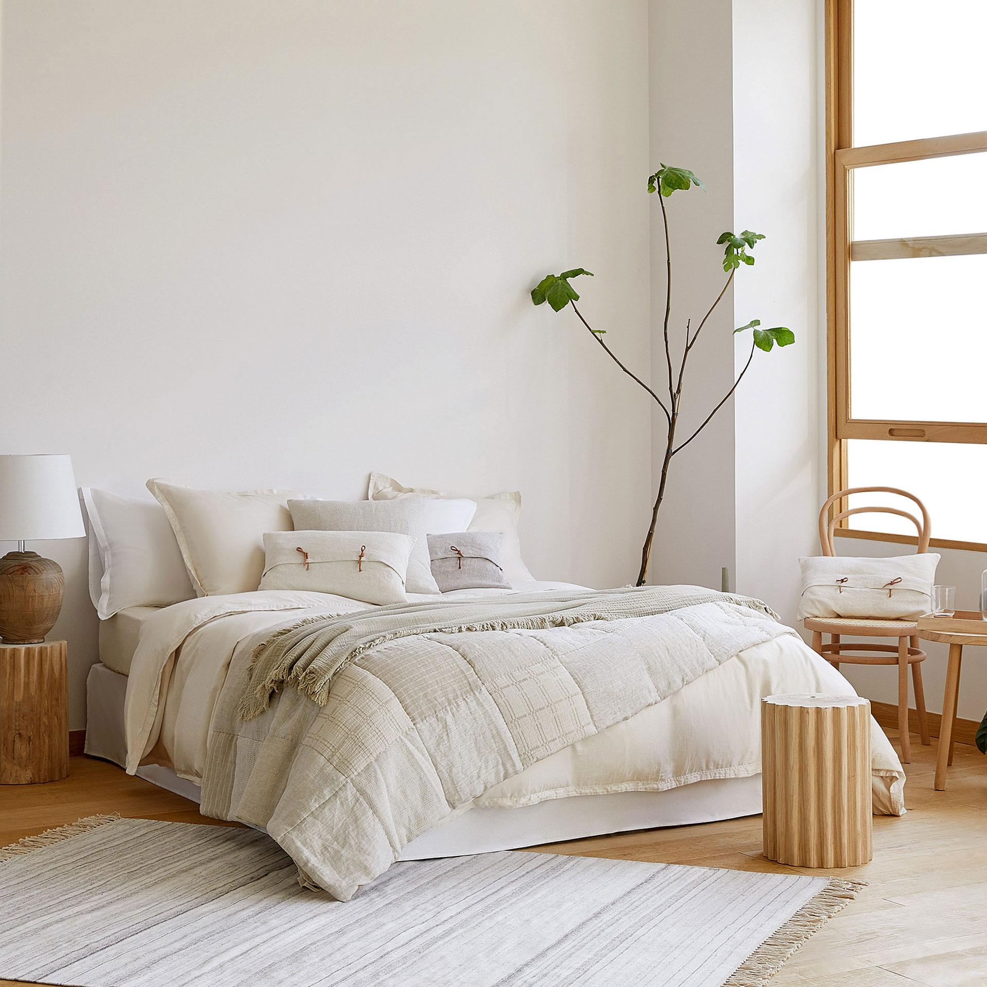 Dormitorio En Blanco Y Crudos De Zara Home