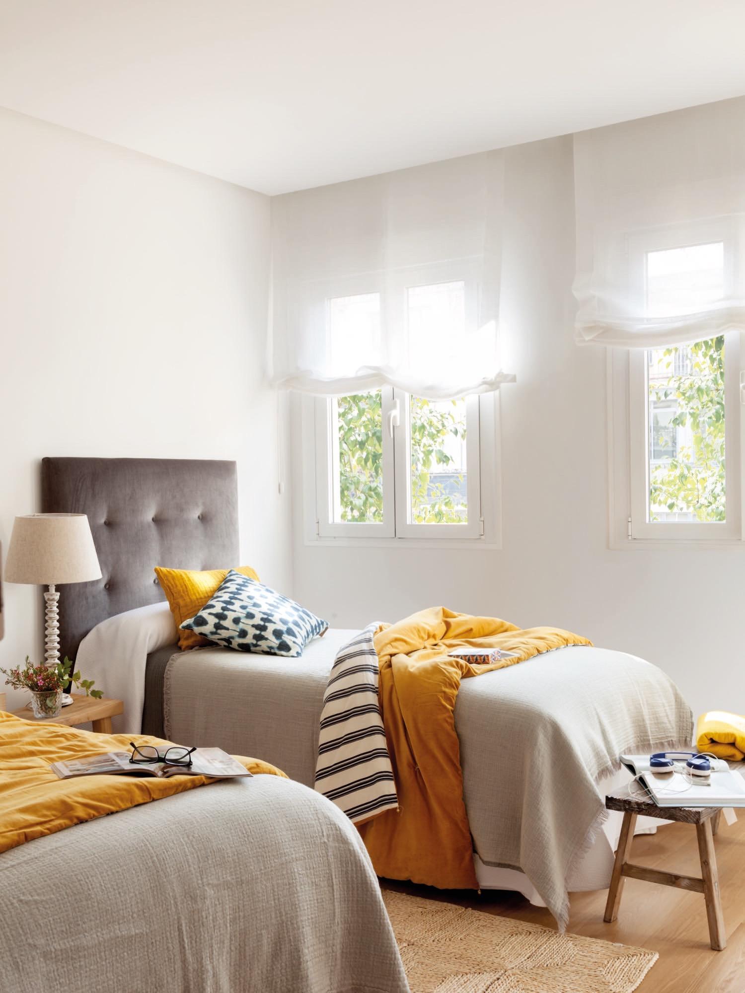 Un piso reformado en madrid con cocina sal n y comedor di fanos - Dos camas en una ...
