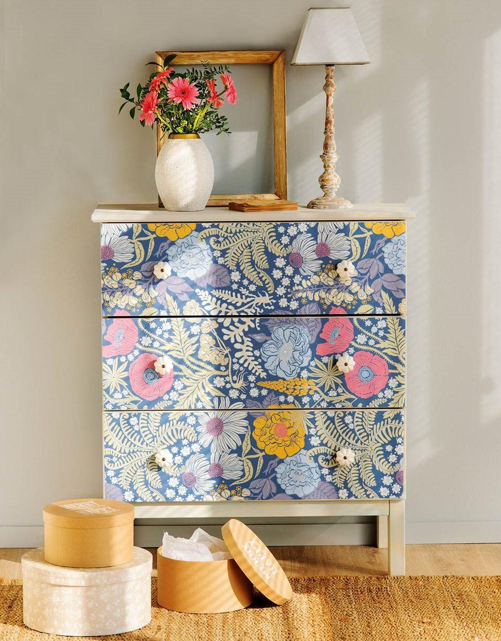C moda 3 ideas para personalizarla - Restaurar muebles con papel ...