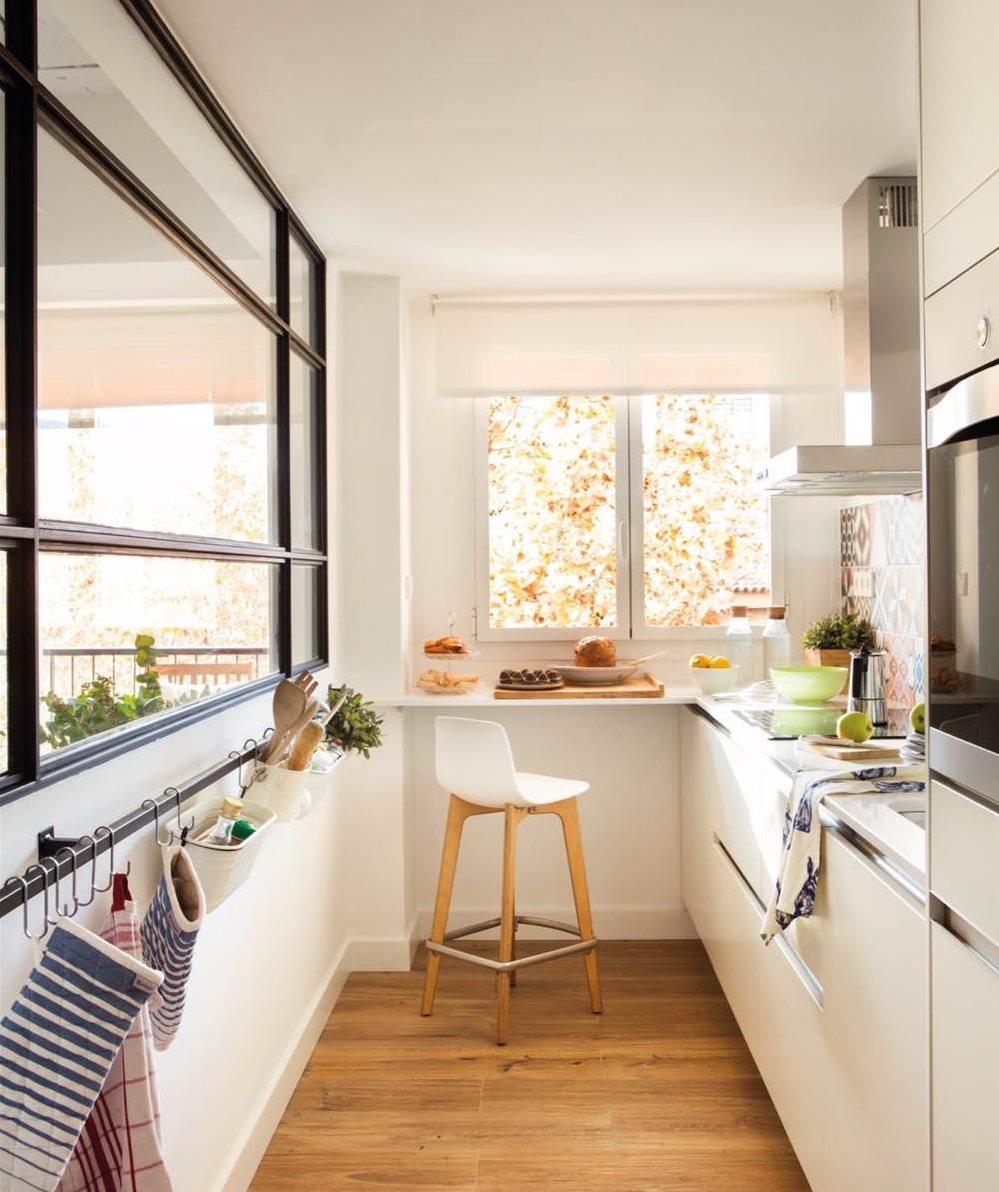 Un piso de 60 metros muy bien aprovechados para una pareja for Decoracion cocinas comedor pequenas